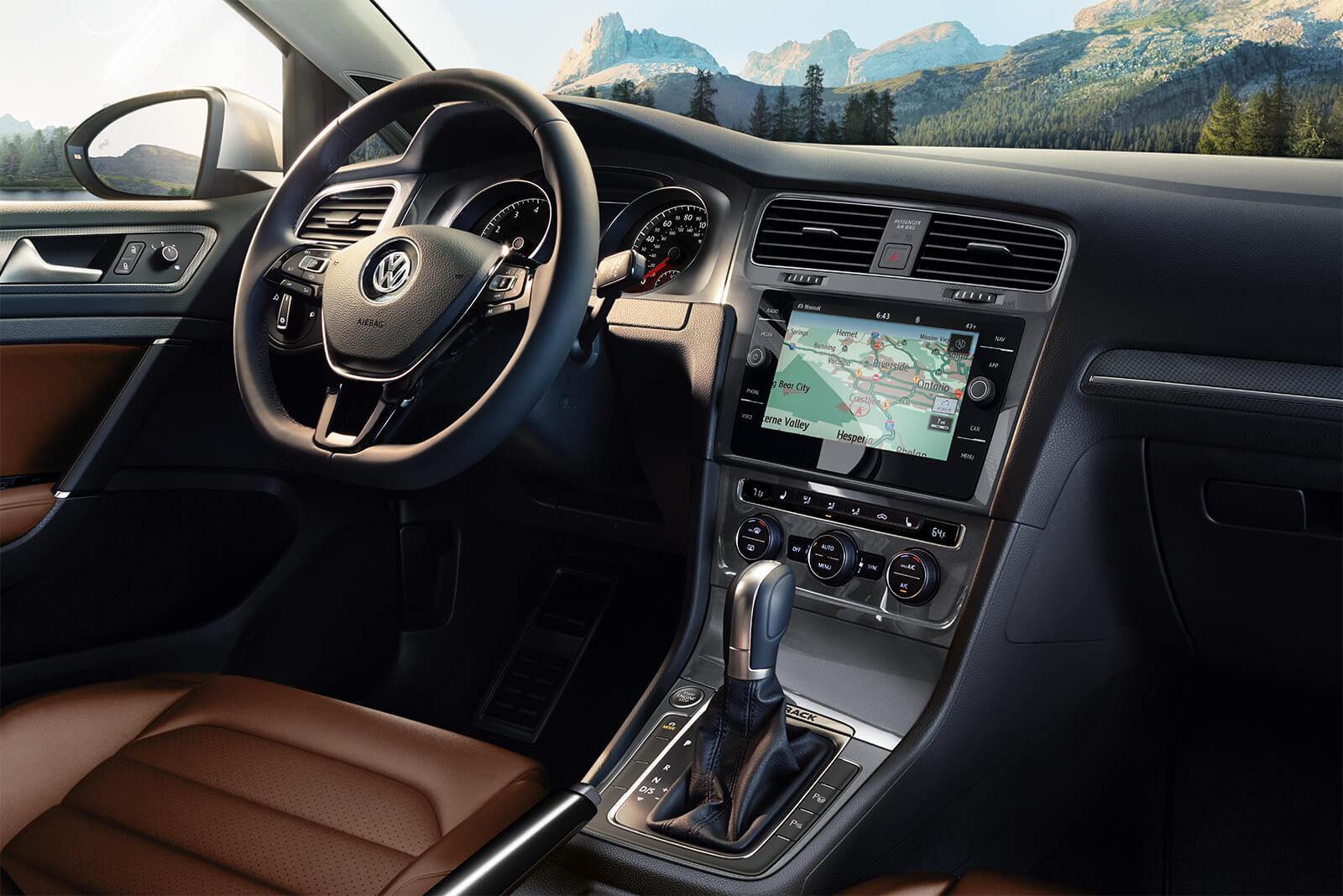 2019 Volkswagen Golf Alltrack SEL Front Interior Dashboard and Display