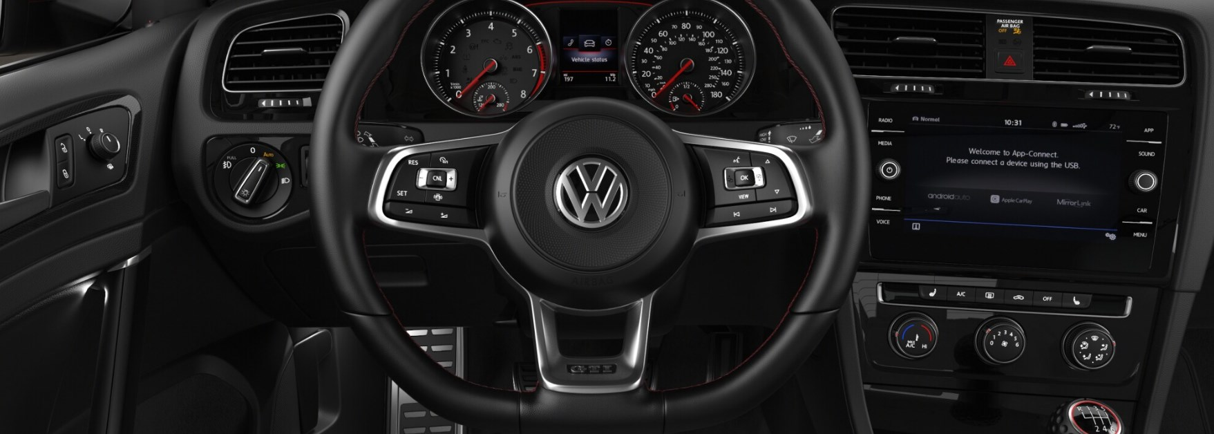 2019 Volkswagen Golf GTI SE Back Interior Black Picture