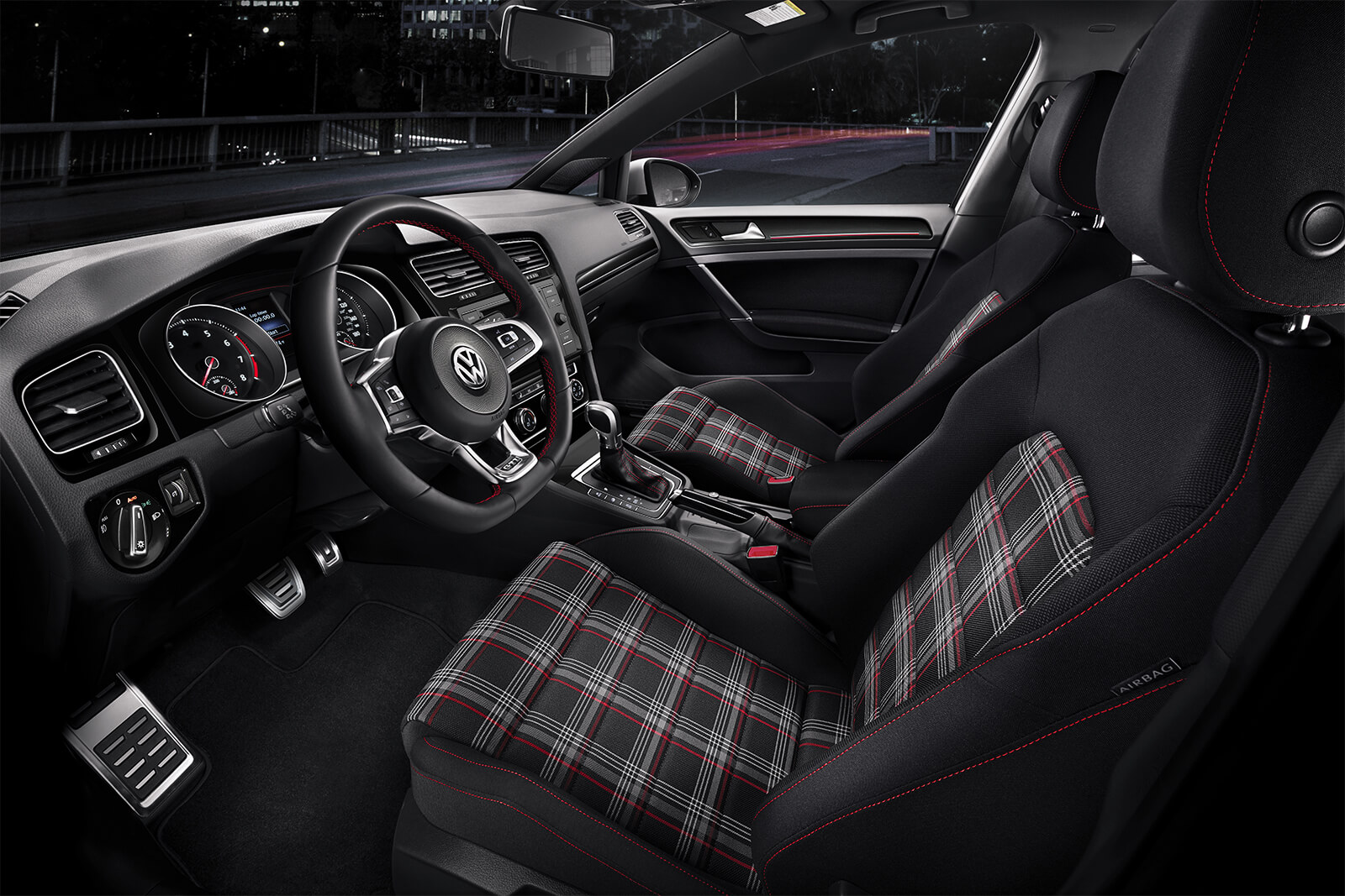 2019 Volkswagen Golf GTI Front Seating Interior