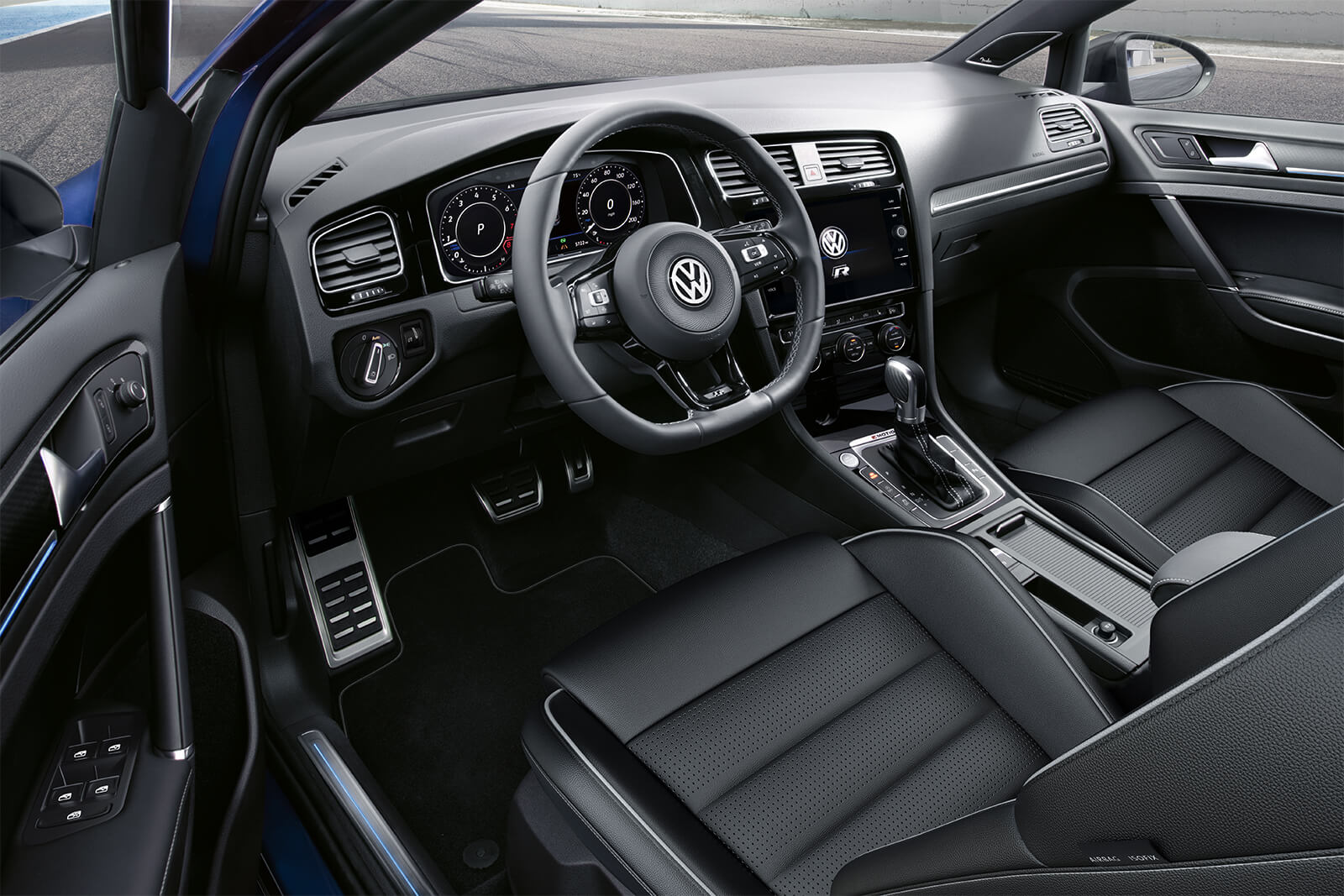 2019 Volkswagen Golf R Front Black Leather Interior