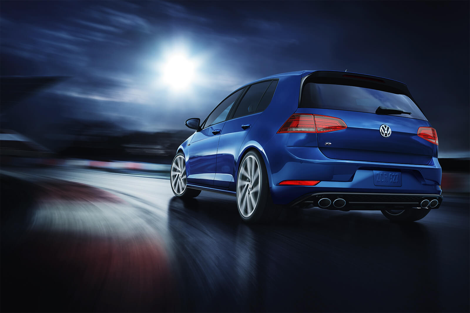 2019 Volkswagen Golf R Lapiz Blue Rear Exterior