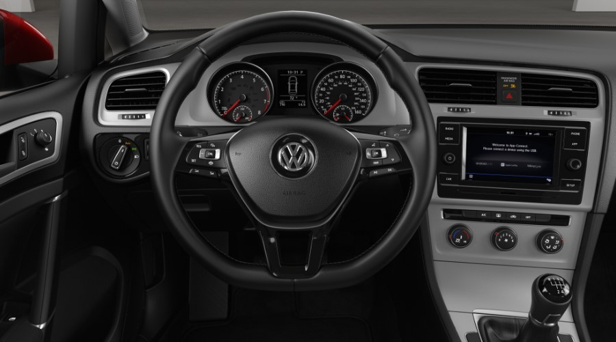2019 Volkswagen Golf S Interior Steering Wheel Detail