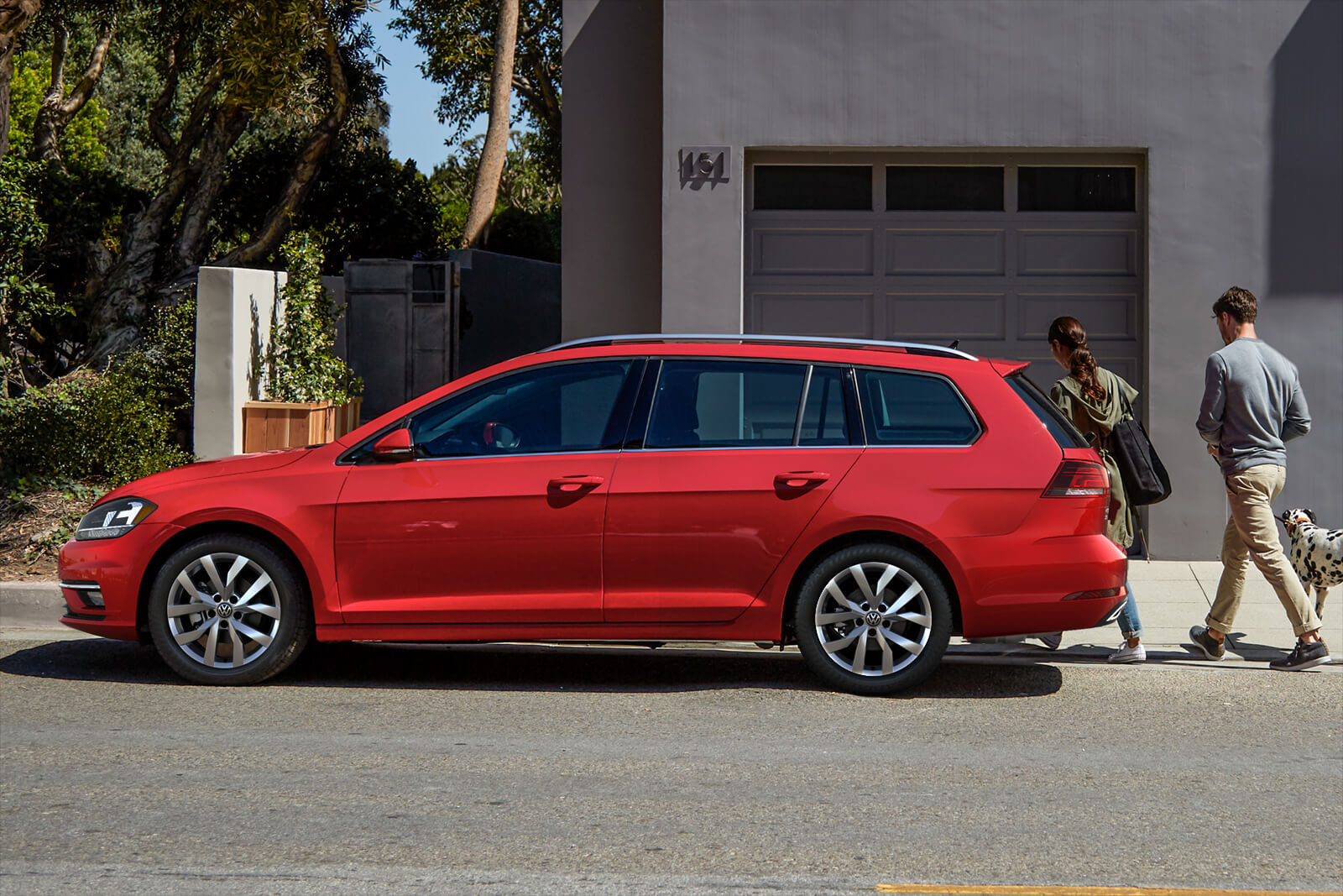 2019 Volkswagen Golf SportWagen Side Red Exterior