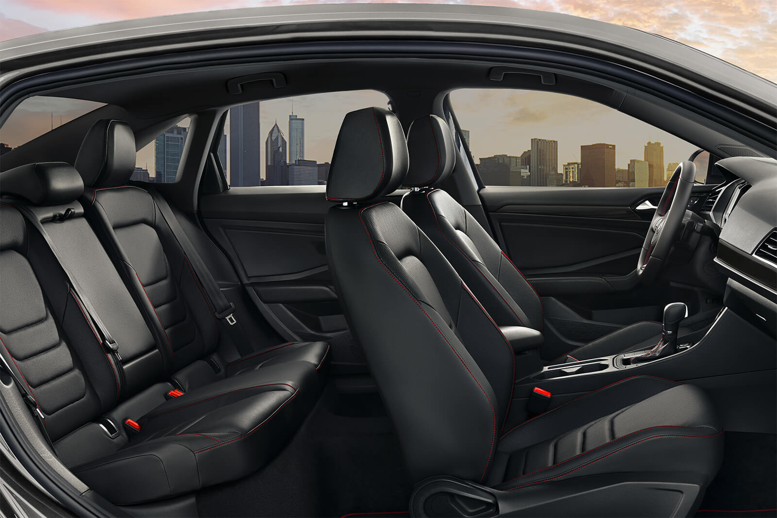 2019 Volkswagen Jetta GLI Autobahn Black Leather Interior Seating