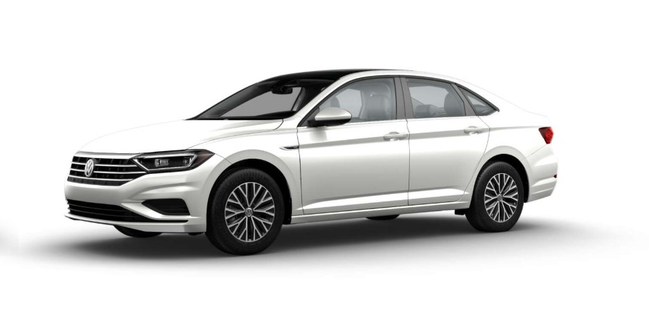 2019 Volkswagen Jetta SEL Front White Exterior Picture