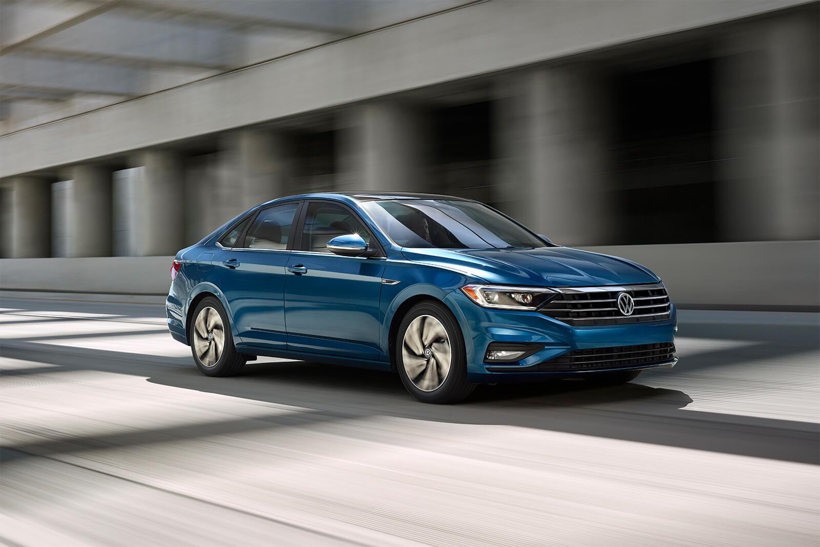 2019 Volkswagen Jetta Blue Exterior Front View