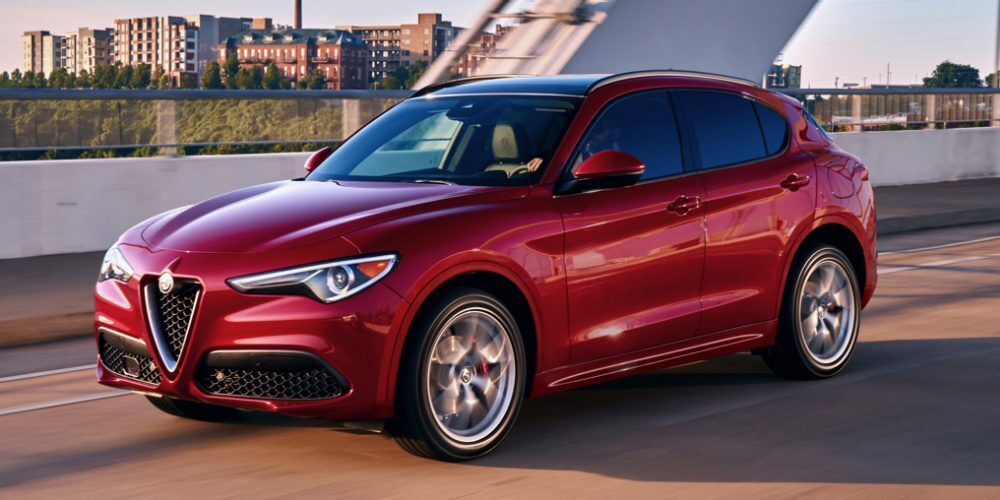 2020 Alfa Romeo Stelvio Red Exterior Front View Picture
