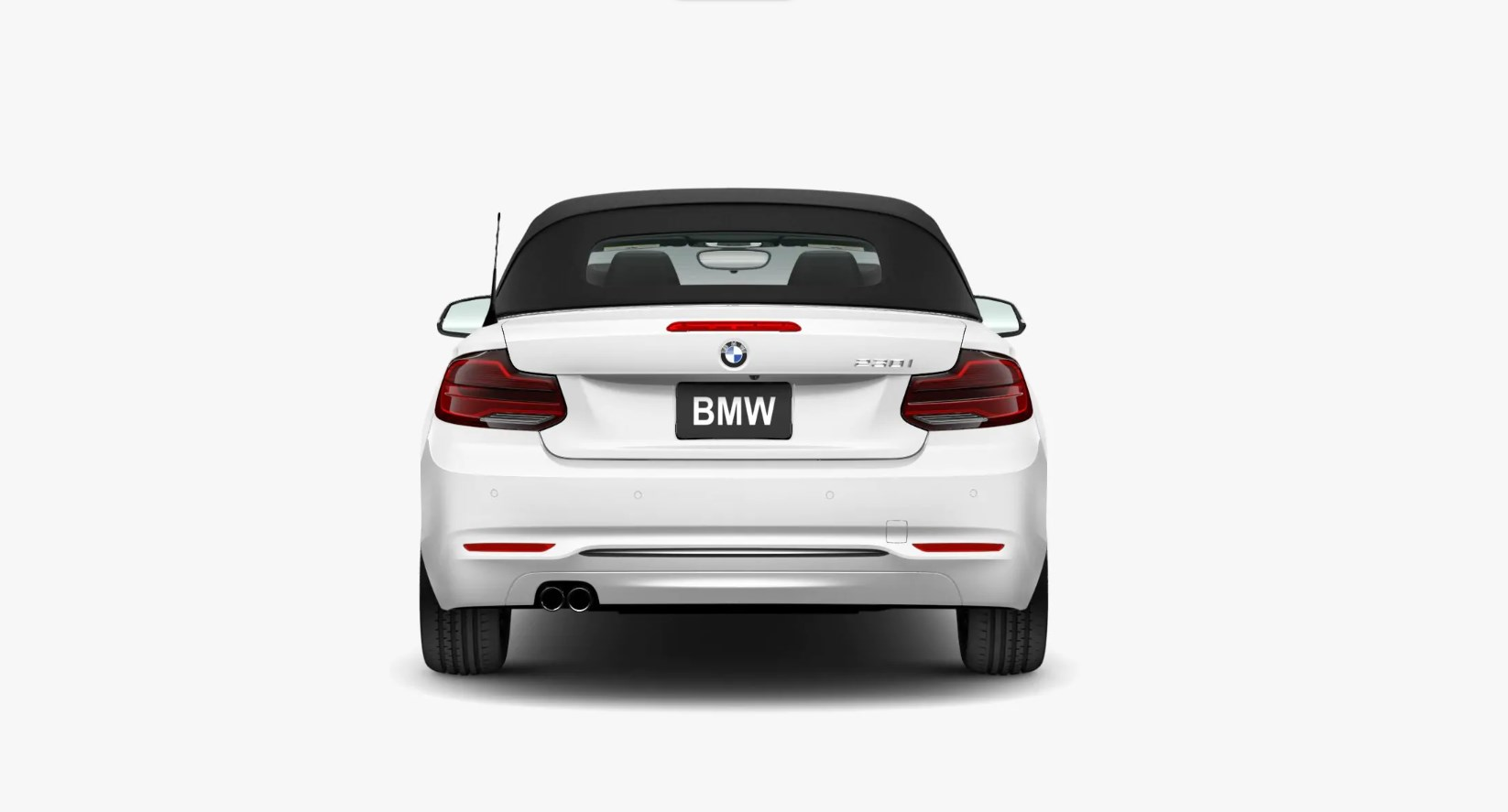 2020 BMW 230i Convertible Back Exterior White Top Up Picture