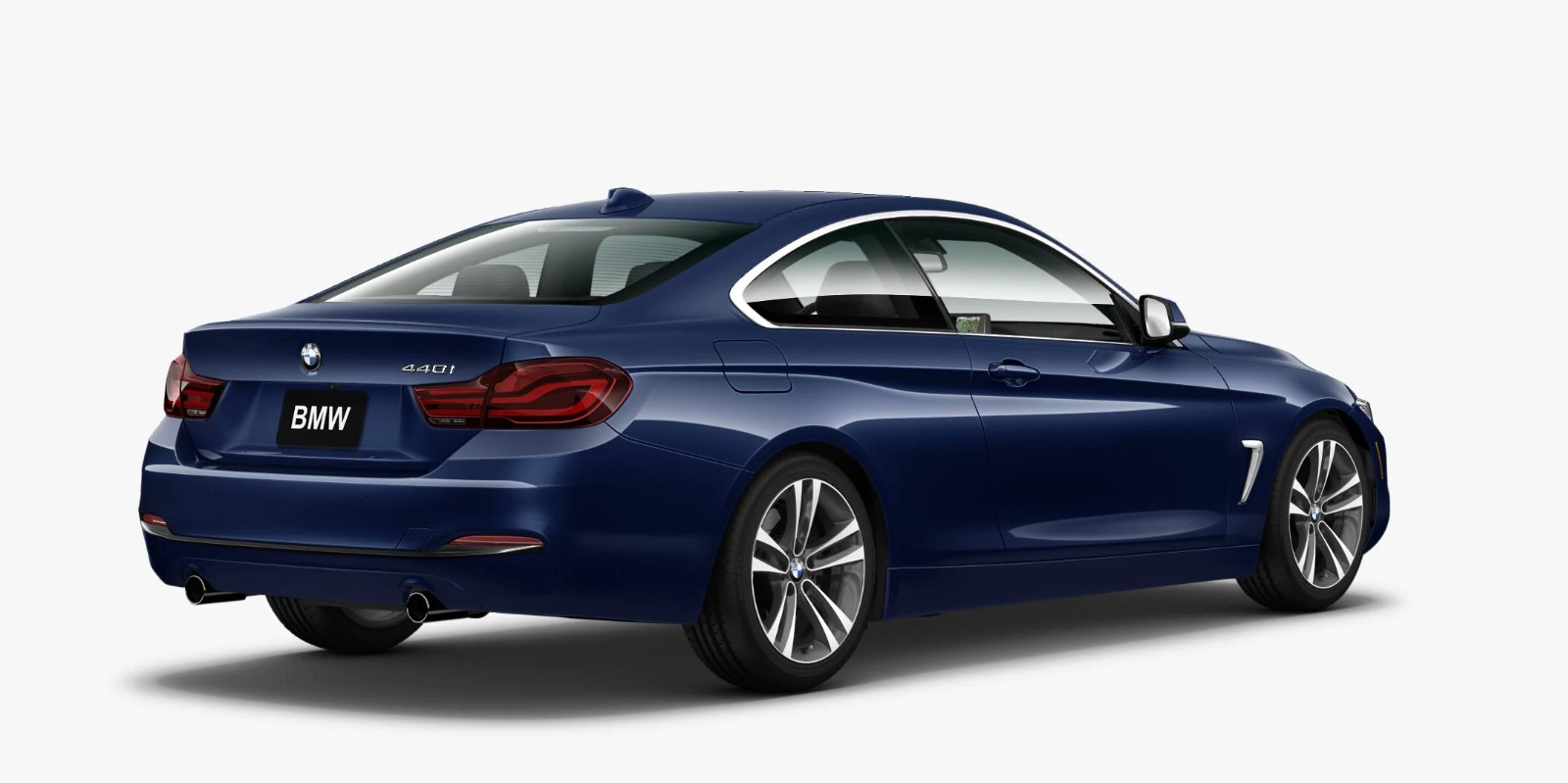 2020 BMW 4 Series 440i Mediterranean Blue Exterior Rear View
