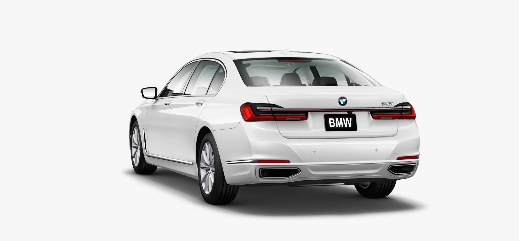 2020 BMW 740i Sedan Back Exterior White Picture