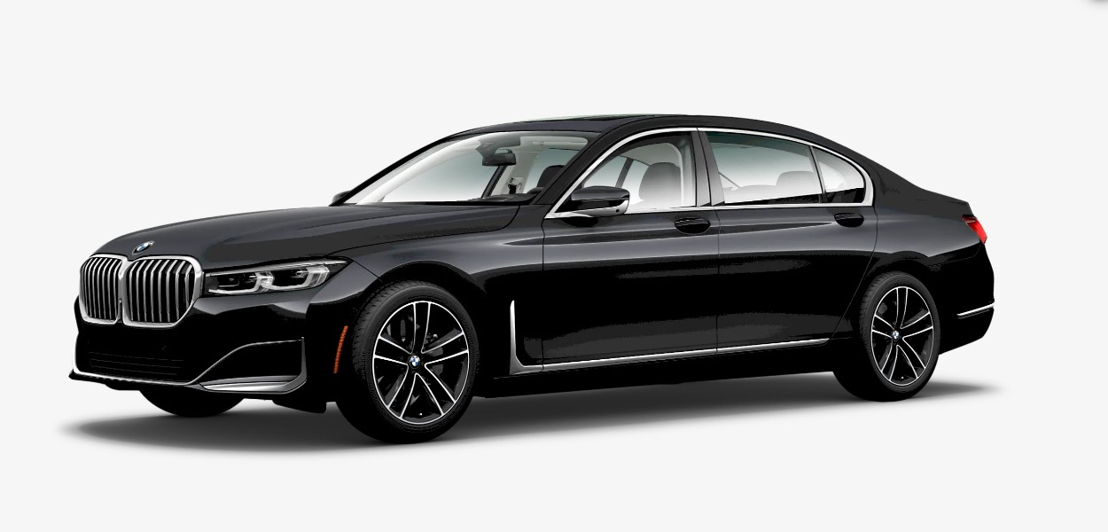2020 BMW 750i xDrive Arctic Grey Exterior Front Picture