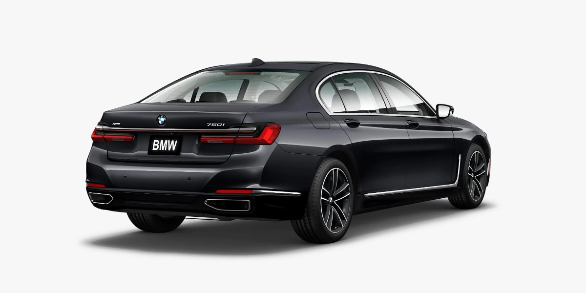 2020 BMW 750i xDrive Arctic Grey Exterior Rear Picture