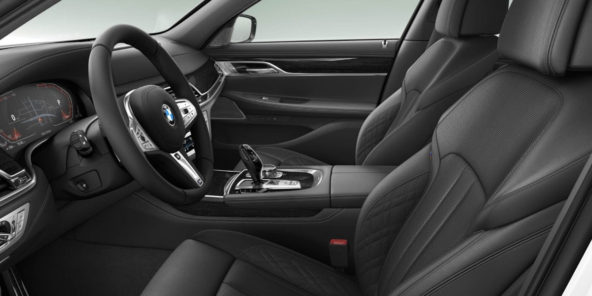 2020 BMW 750i xDrive Black Nappa Leather Front Interior Picture