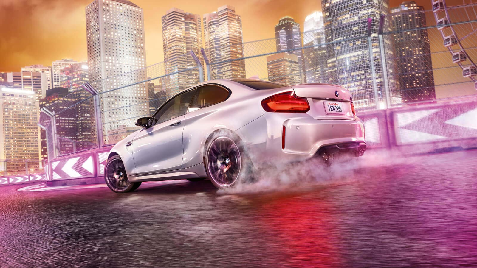 2020 BMW M2 Competition White Exterior Rear View