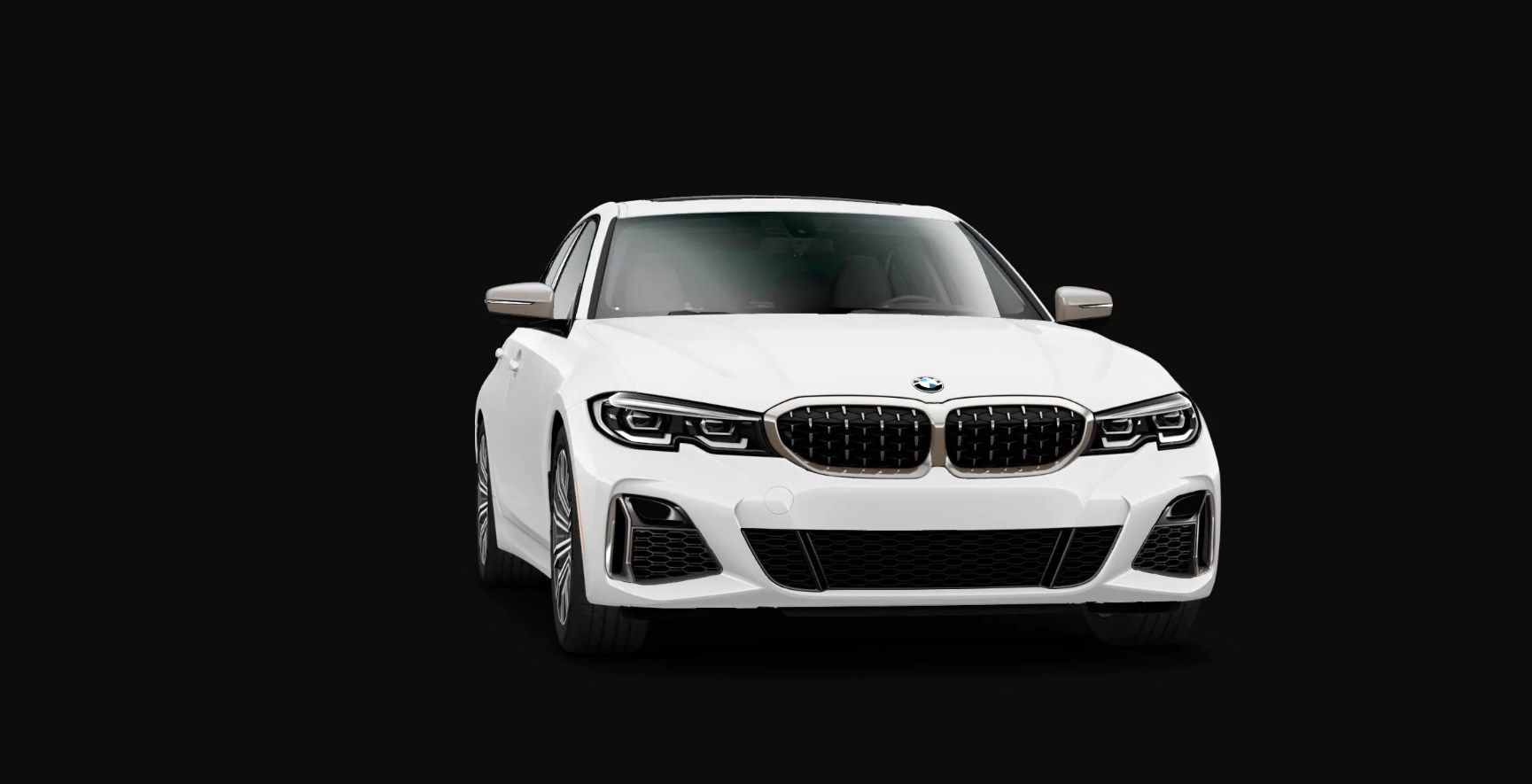 2020 BMW M340i Sedan Front Exterior White Picture