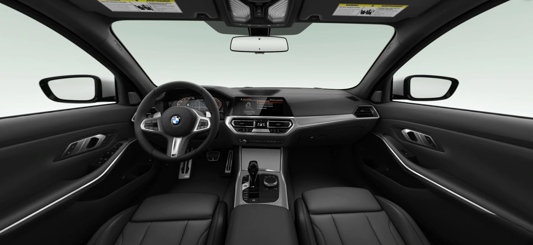 2020 BMW M340i Sedan Front Interior Black Picture