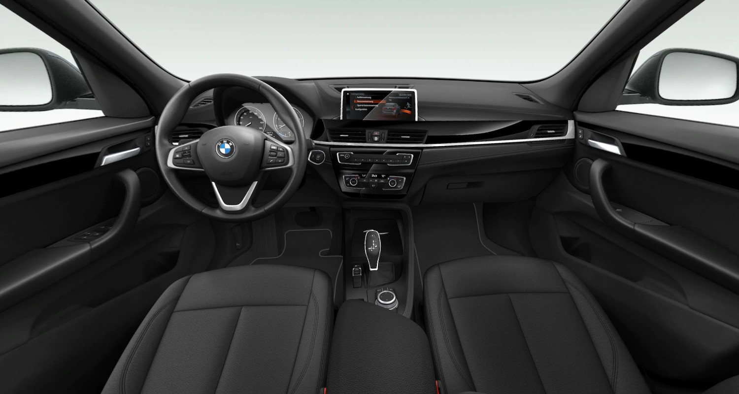 2020 BMW X1 sDrive28i Front Interior Dashboard and Steering Wheel