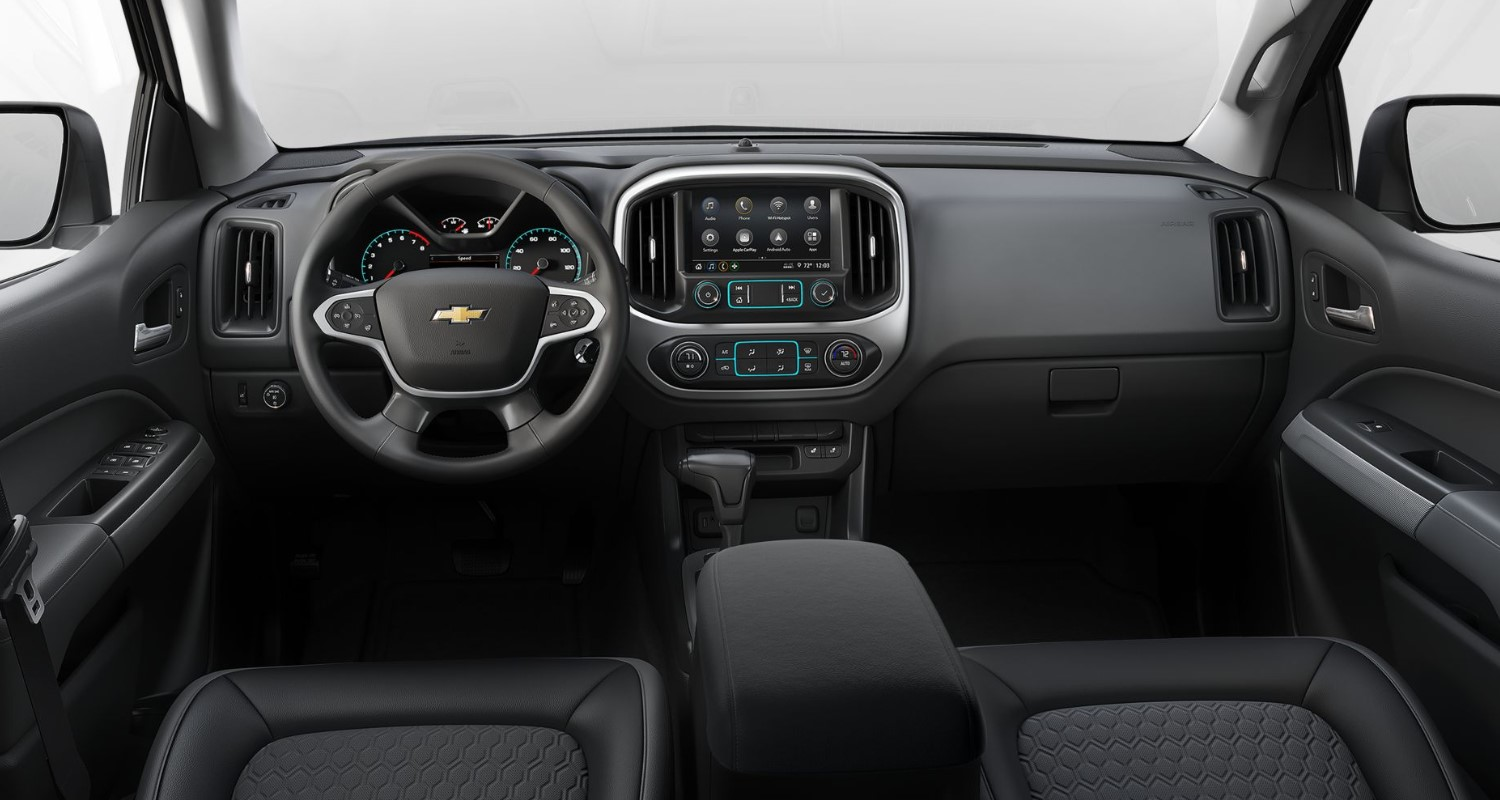 2020 Chevrolet Colorado Z71 Front Interior Dashboard Detail Picture