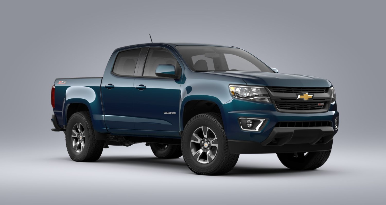 2020 Chevrolet Colorado Z71 Pacific Blue Exterior Front View