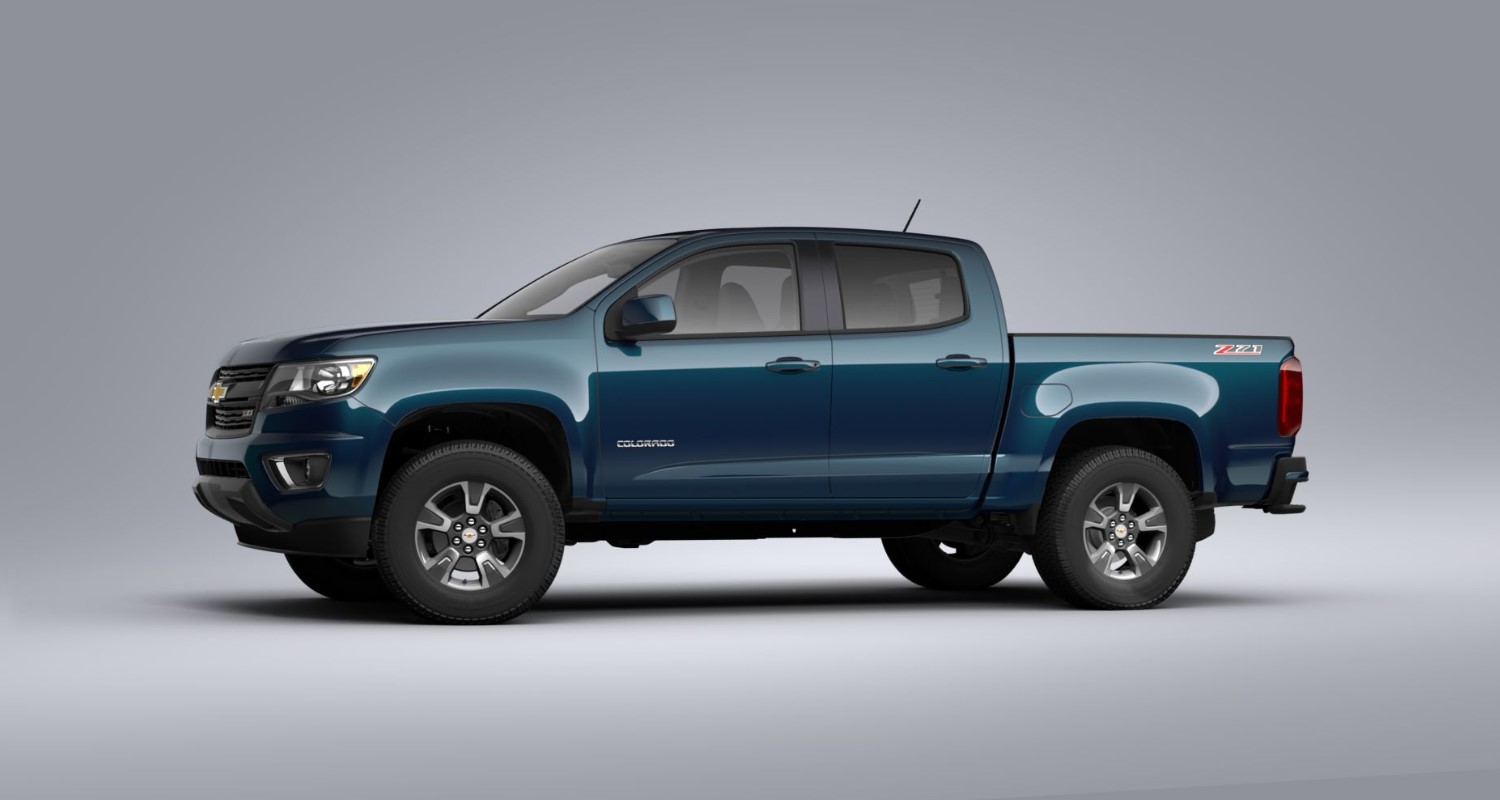 2020 Chevrolet Colorado Z71 Pacific Blue Exterior Side View