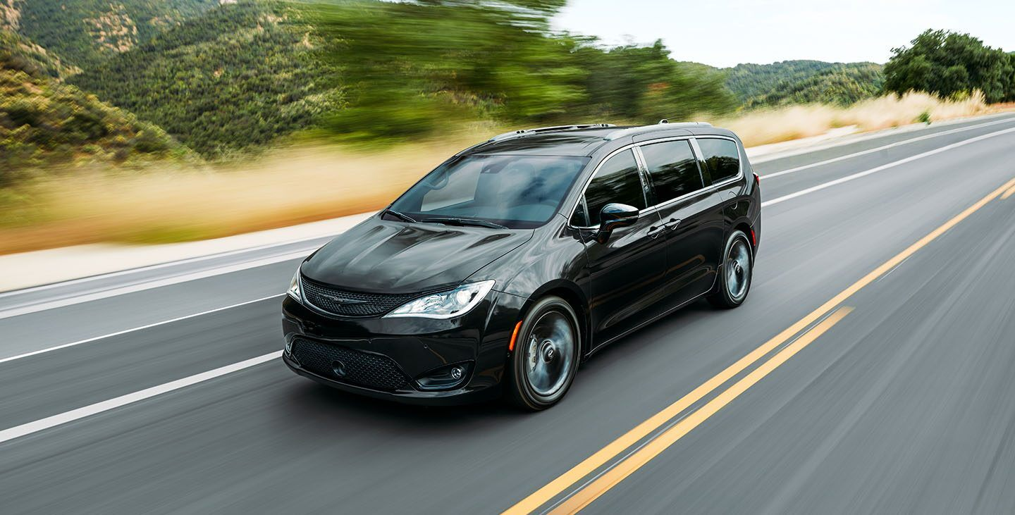 2020 Chrysler Pacifica Black Exterior Front View