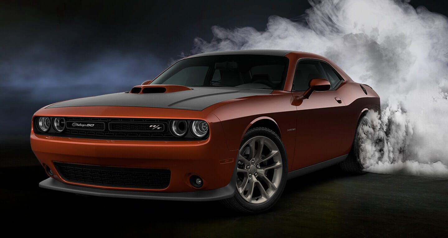 2020 Dodge Challenger Front View Exterior Orange Picture