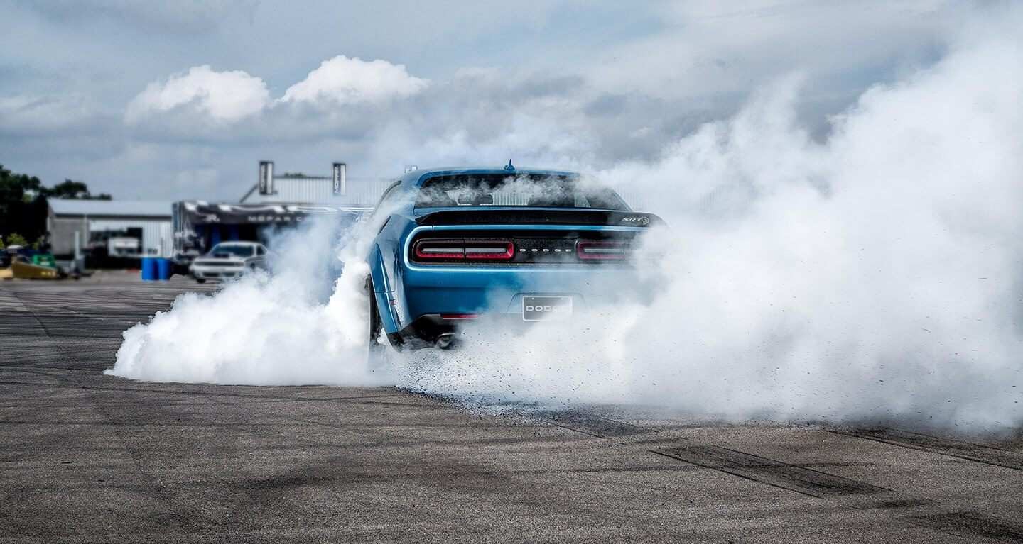 2020 Dodge Challenger Rear View Exterior Blue Picture