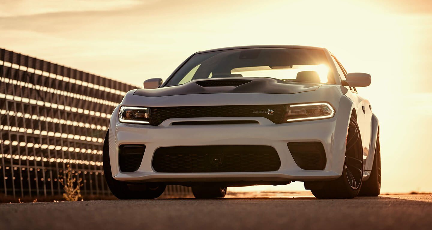 2020 Dodge Charger White Exterior Front View
