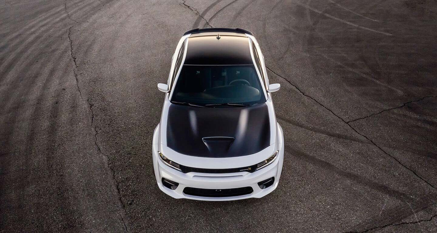2020 Dodge Charger White Exterior Top View
