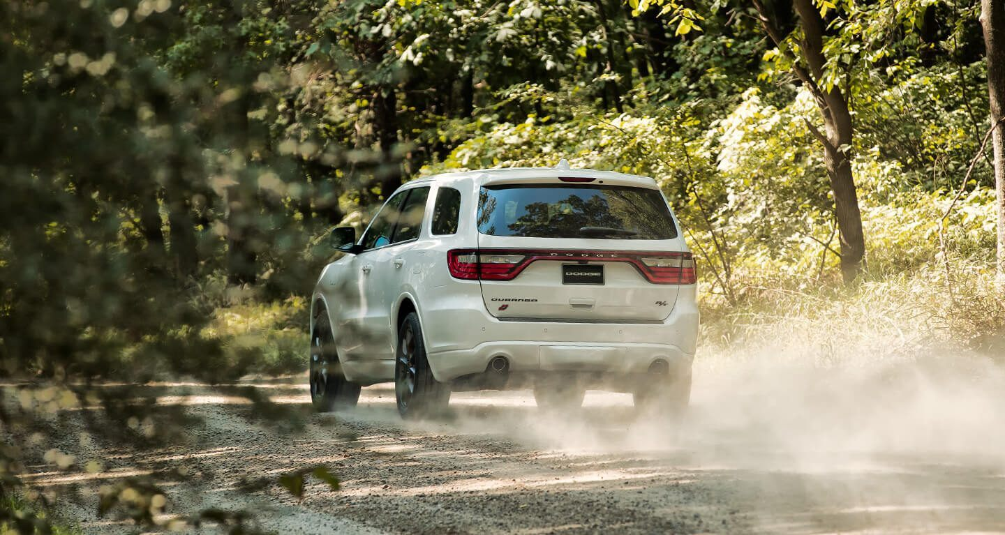 2020 Dodge Durango Rear Exterior White Dirt Picture