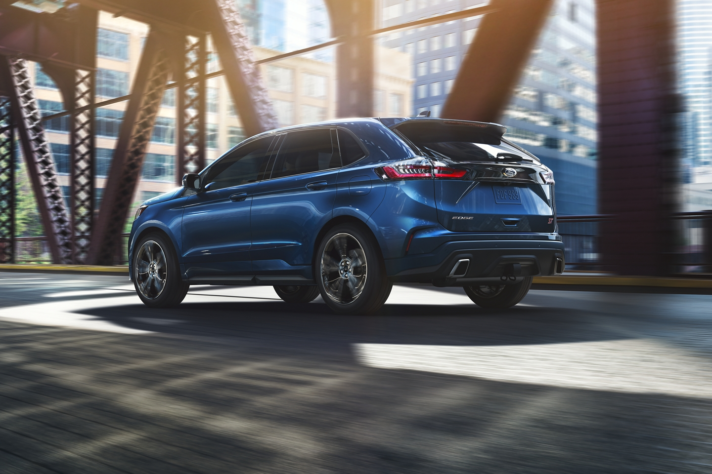 2020 Ford Edge Rear Exterior Blue Picture