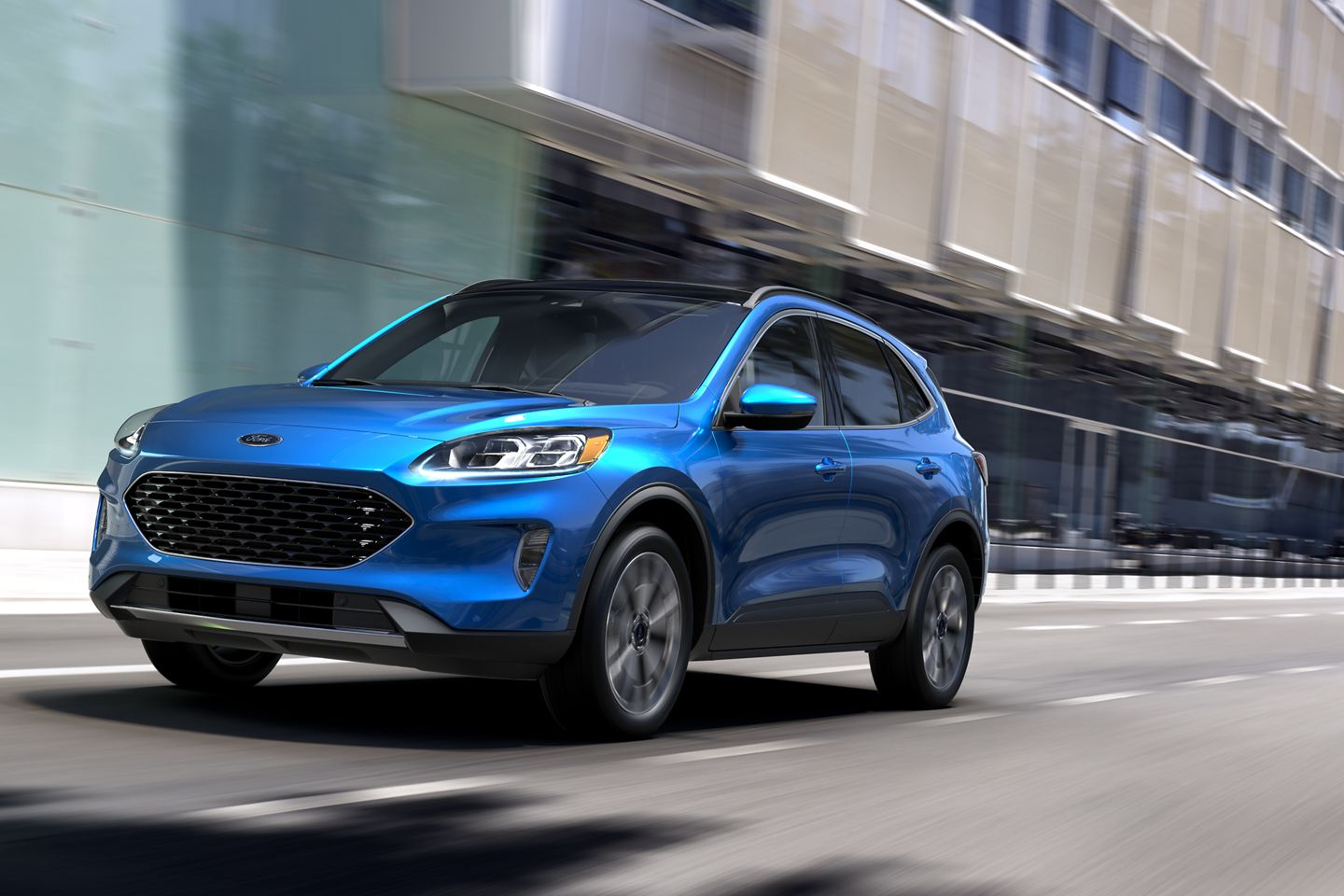 2020 Ford Escape Front Blue Exterior