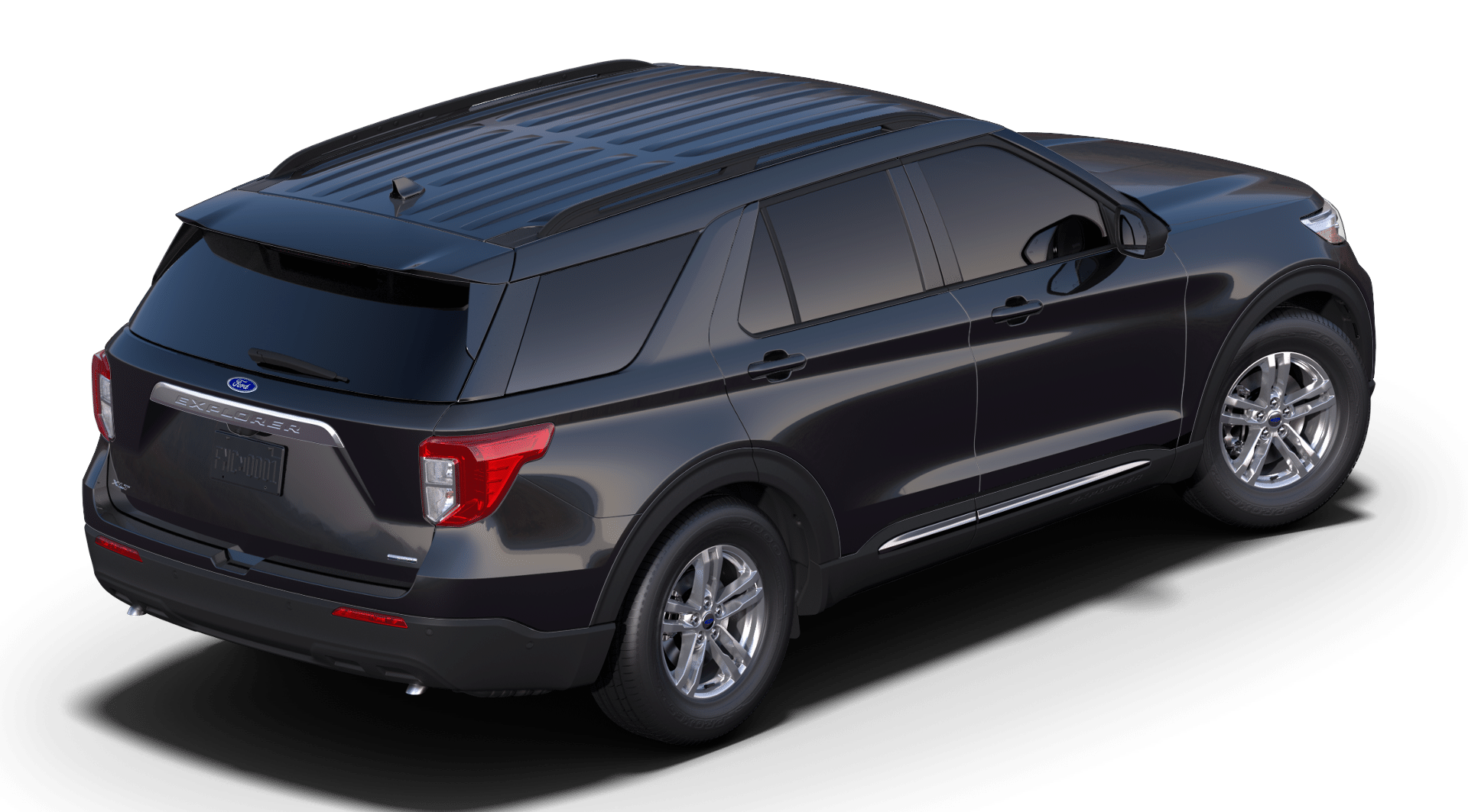 2020 Ford Explorer XLT Black Rear Exterior Picture.png