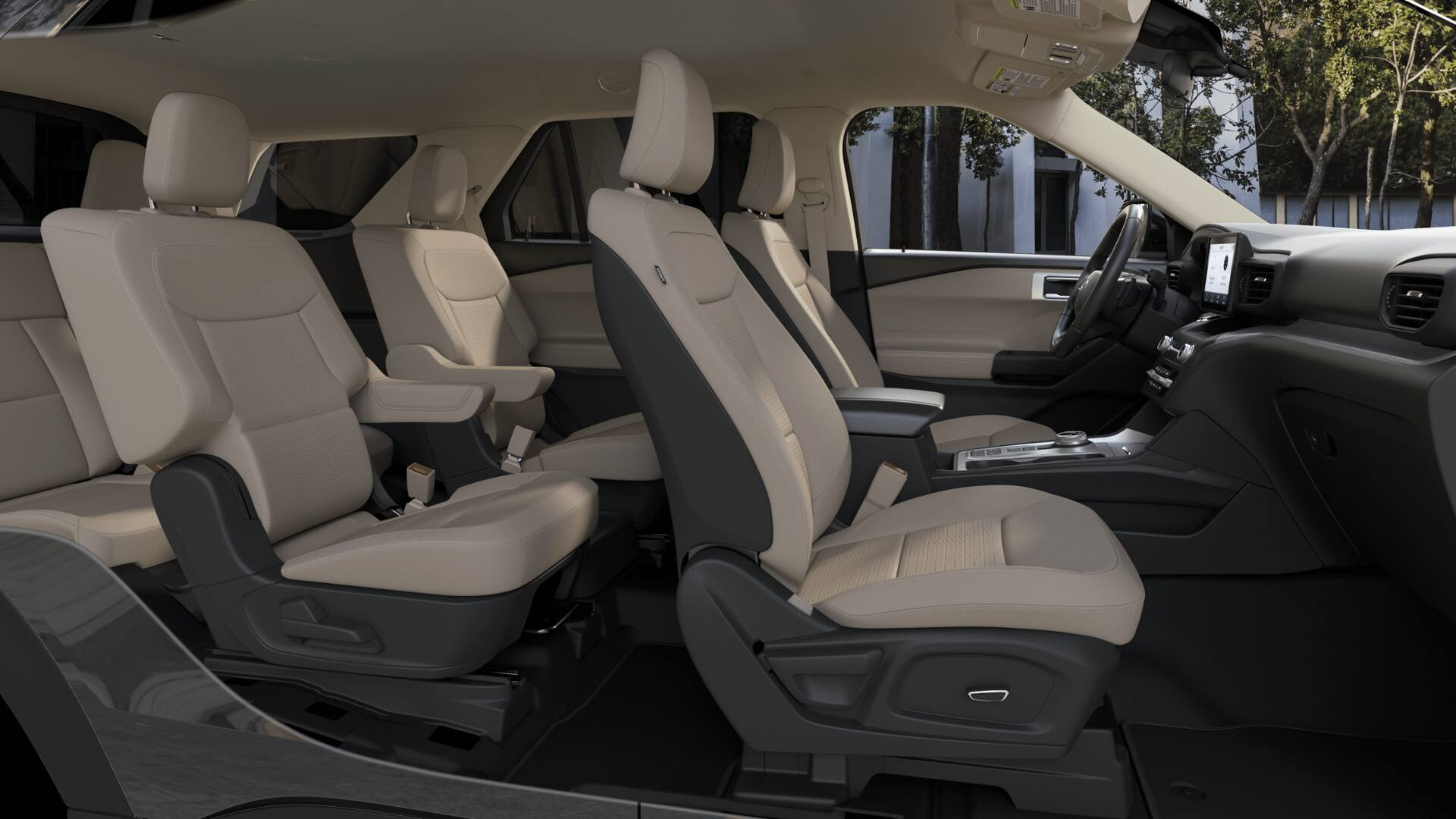 2020 Ford Explorer XLT Side Interior Picture