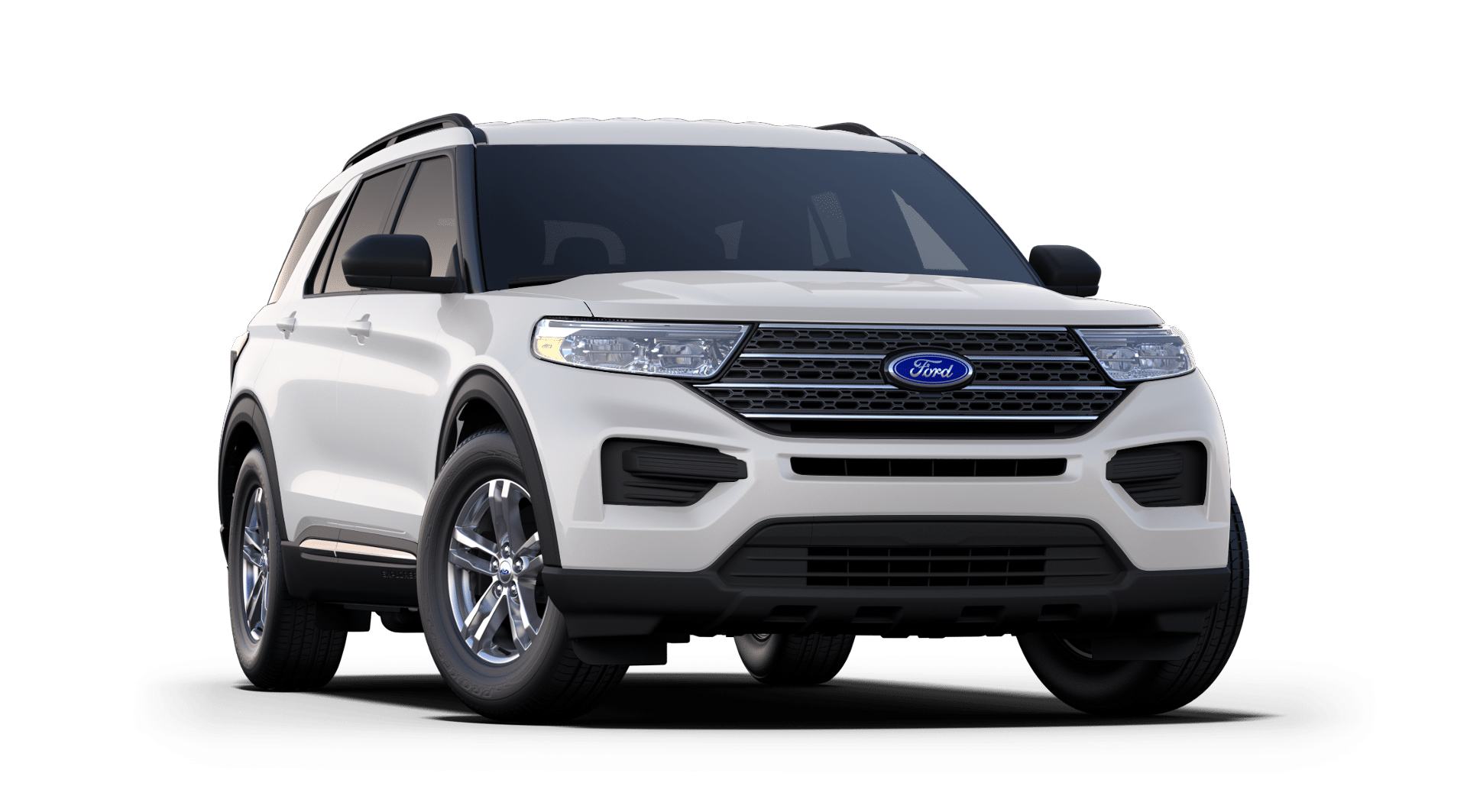 2020 Ford Explorer XLT White Front Exterior Picture.png