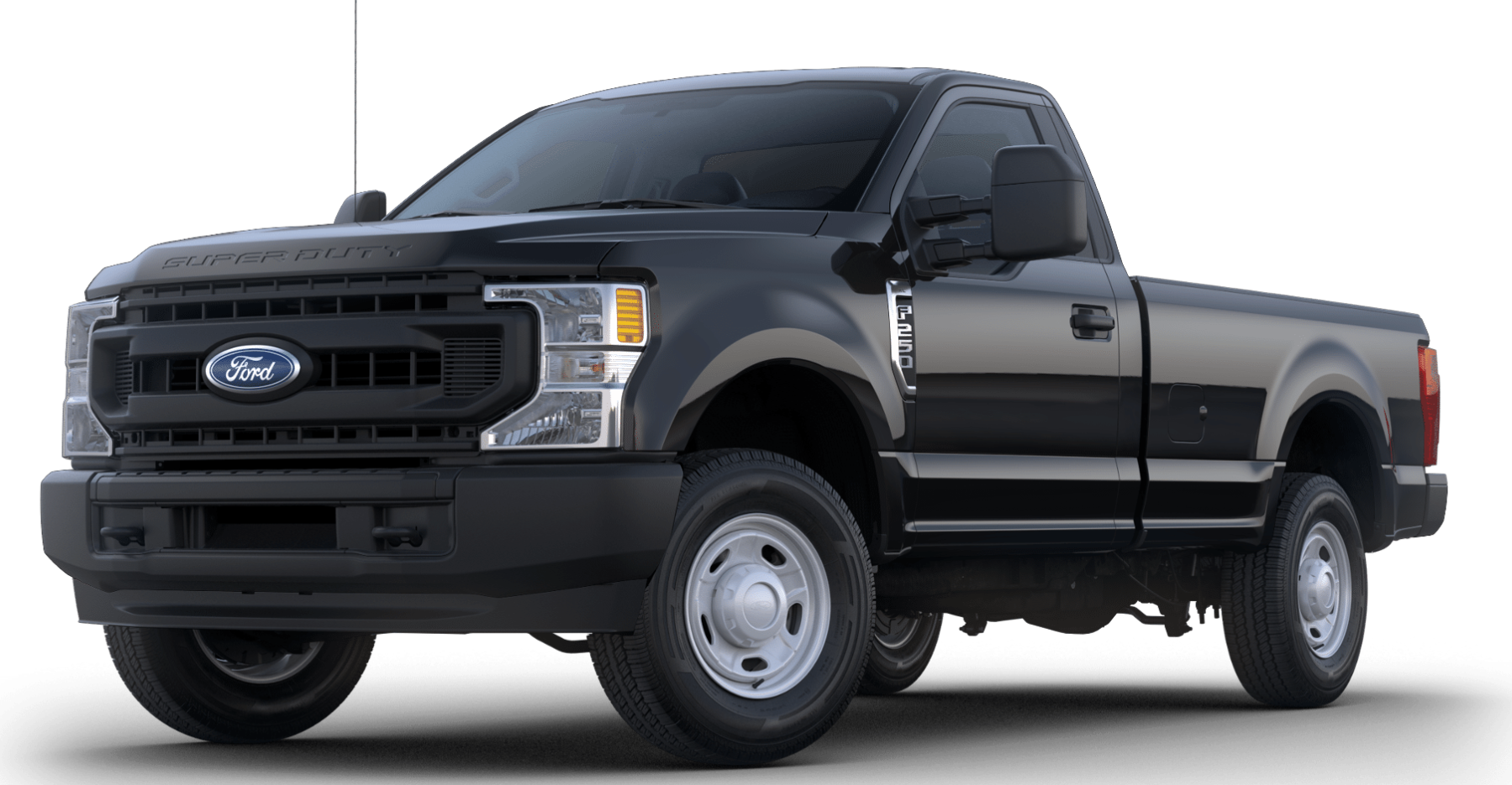 2020 Ford Super Duty F-250 Front View Black Exterior Picture.png