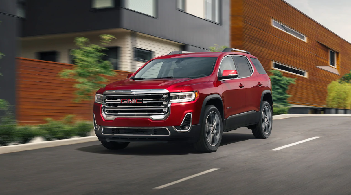 2020 GMC Acadia Front Red Exterior Picture