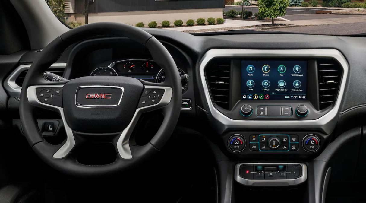 2020 GMC Acadia Front View Interior Dash Picture