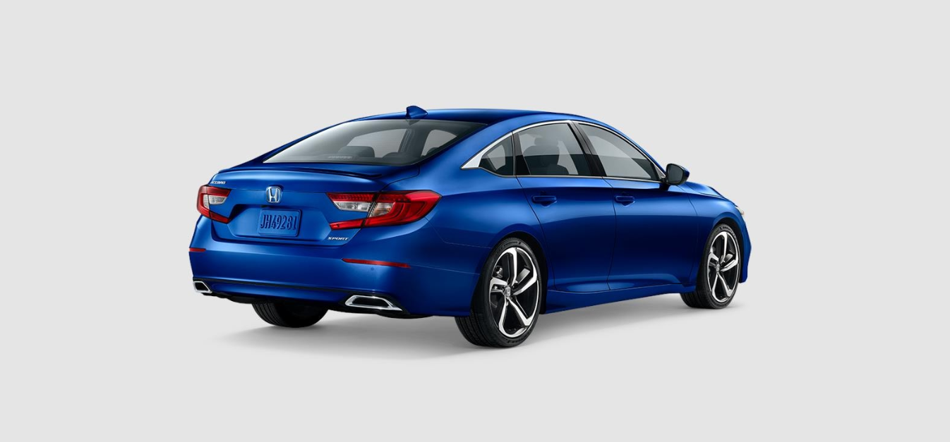 2020 Honda Accord Sport Rear View Blue Exterior Picture
