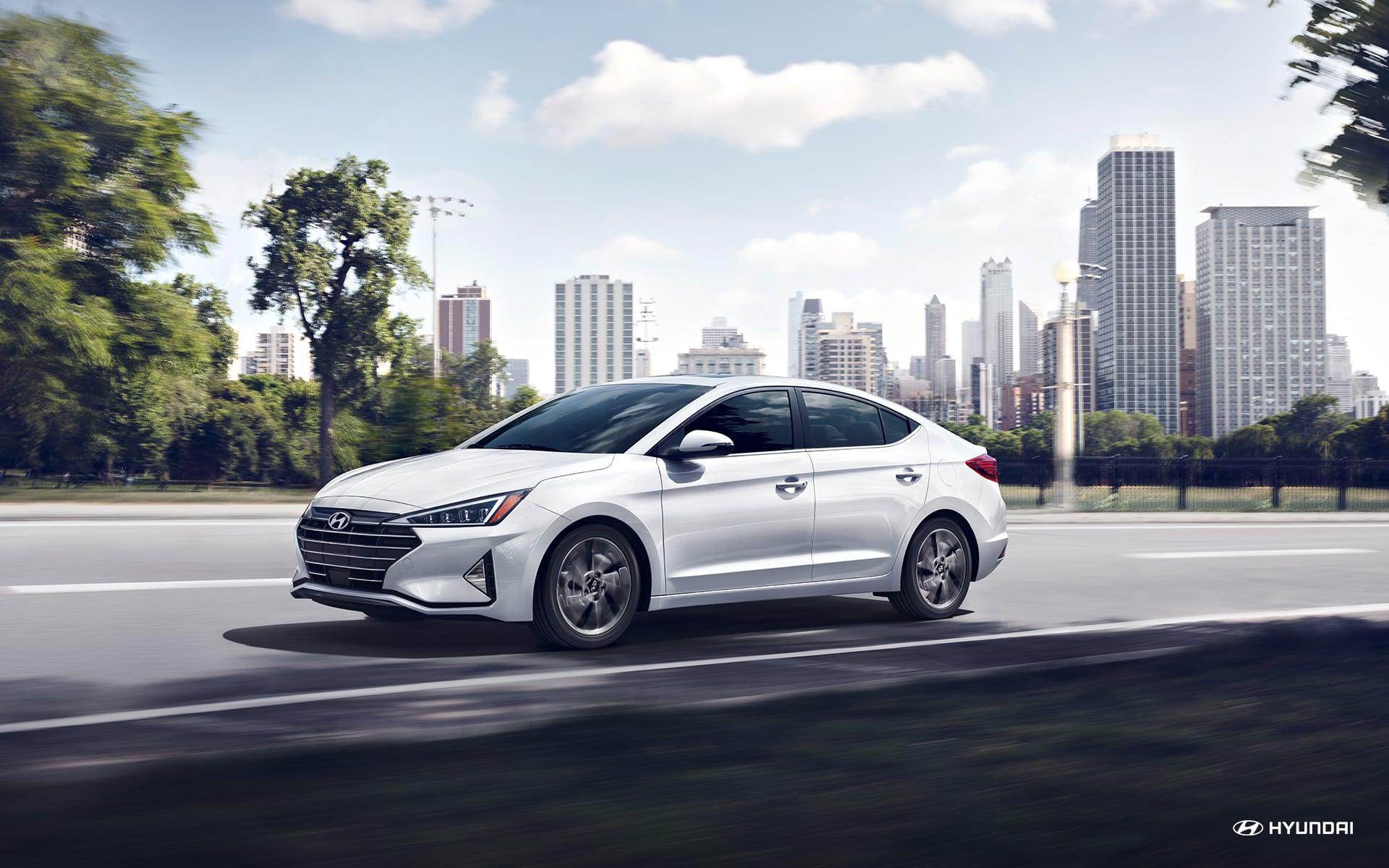2020 Hyundai Elantra Front White Exterior
