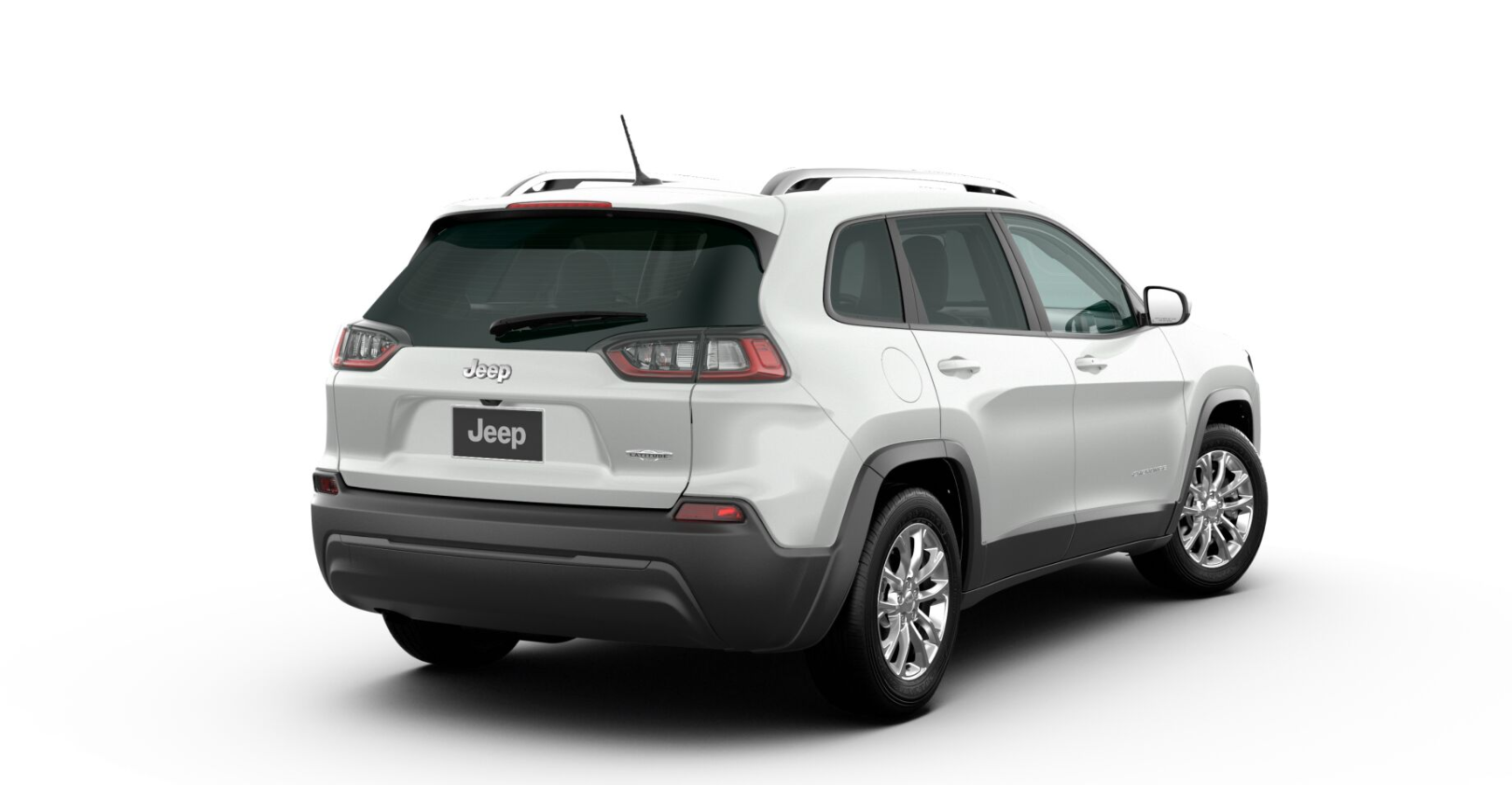 2020 Jeep Cherokee Latitude Rear White Exterior Picture