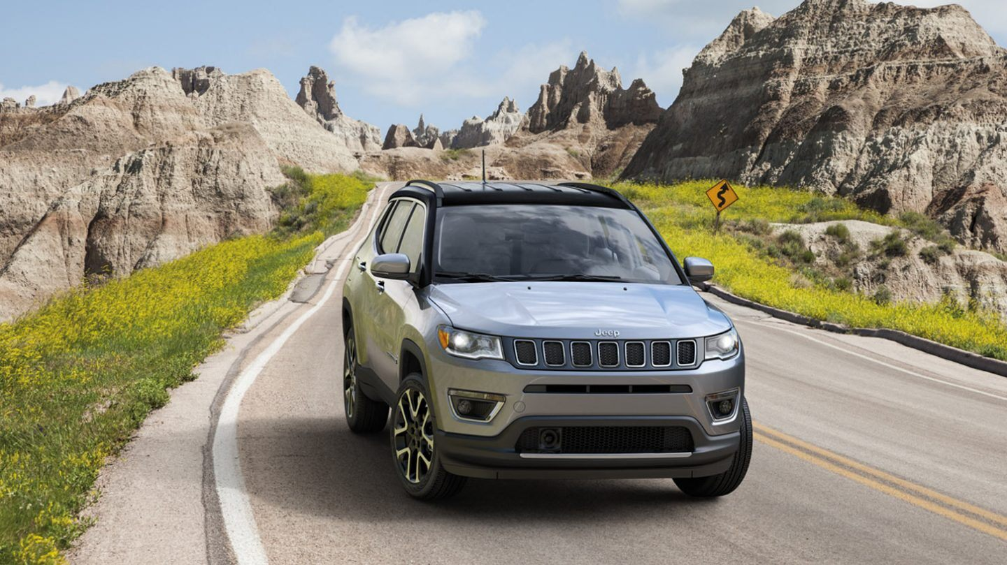 2020 Jeep Compass Front View Gray Exterior