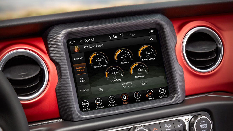 2019 Jeep Gladiator Rubicon Interior Touchscreen