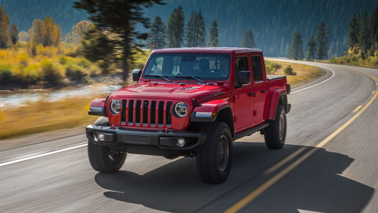 2019 Jeep Gladiator Rubicon Red Exterior Front View