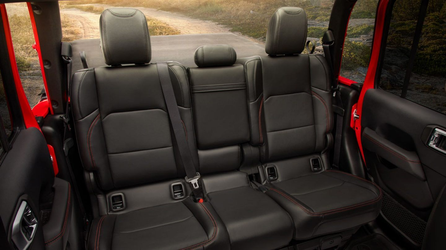 2020 Jeep Gladiator Interior Rear Seating