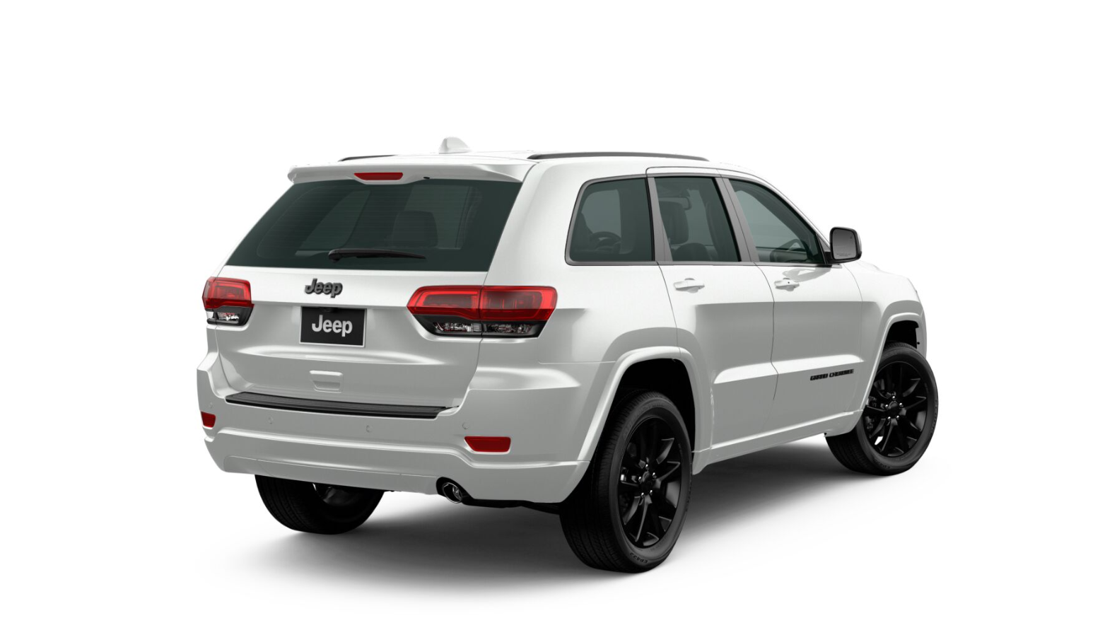 2020 Jeep Grand Cherokee Altitude Rear View White Exterior