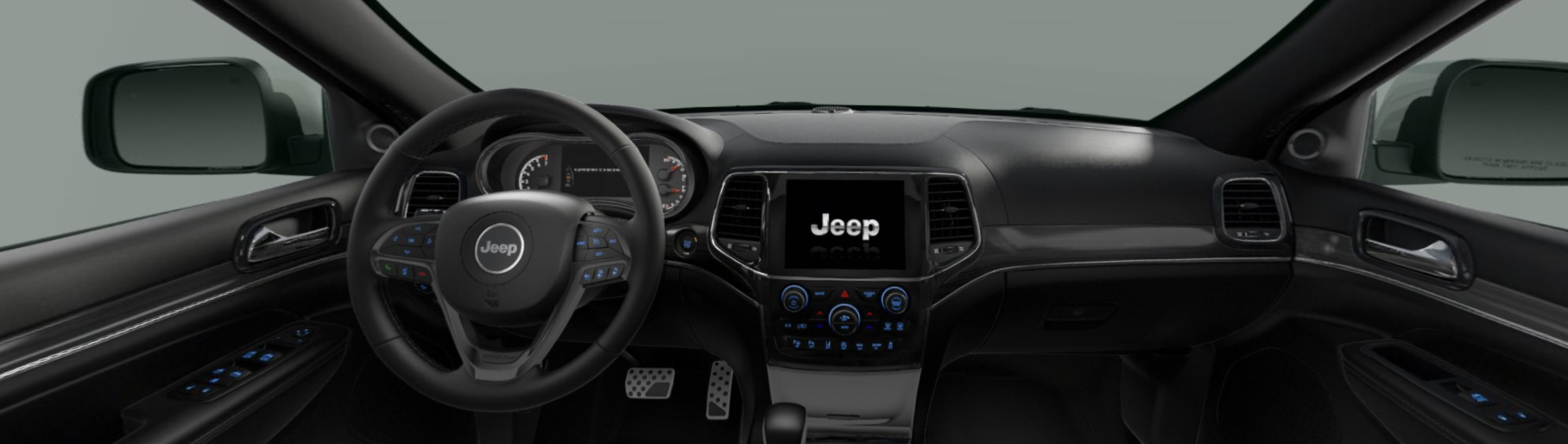 2020 Jeep Grand Cherokee High Altitude Front View Interior Dash Picture