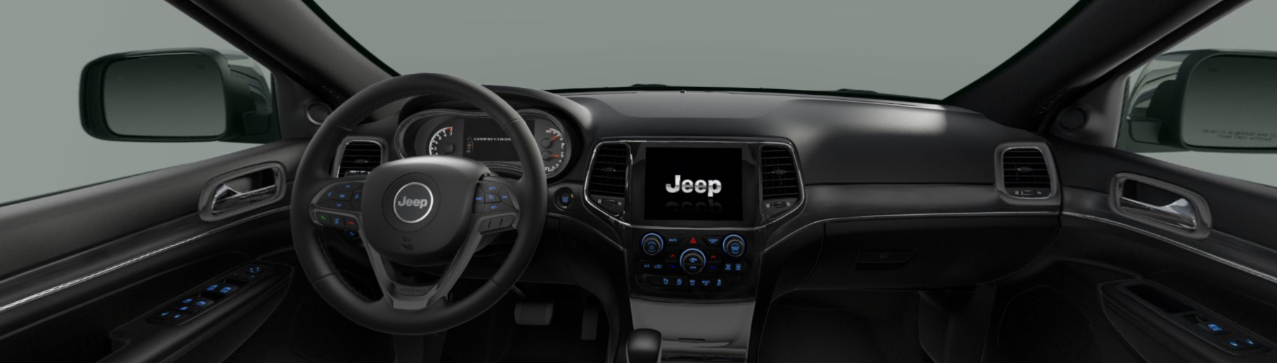 2020 Jeep Grand Cherokee Limited Front View Interior Dash Picture