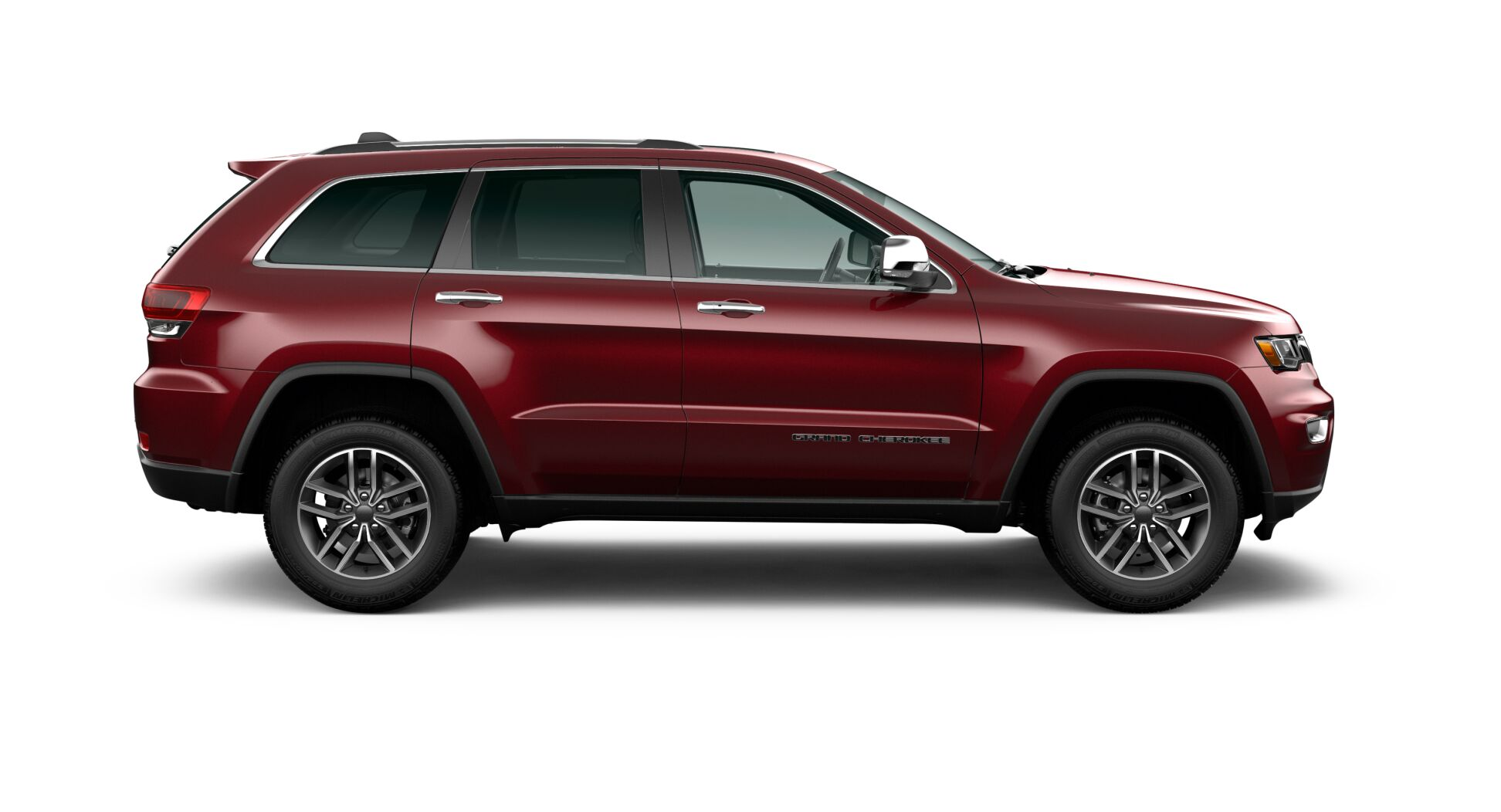 2020 Jeep Grand Cherokee Limited Side View Exterior Red Picture