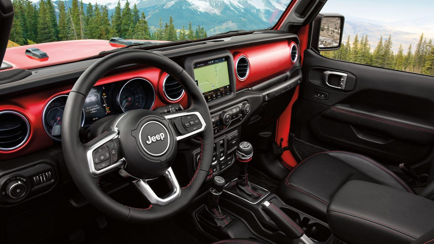 2020 Jeep Wrangler Unlimited Front Interior Dashboard Picture